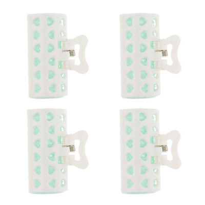 4 Hair Roller Plastic Spring Clips Styling Tool Curls Hairdressing Accessory