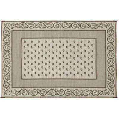 Faulkner Patio Mat Vineyard 8X16 Beige  49599 Canadian Seller