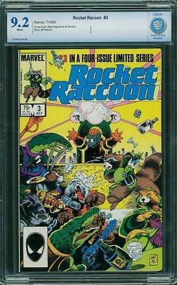 Rocket Raccoon #3 (Marvel, 1985) CBCS NM- 9.2  (not CGC)     WHITE PAGES!