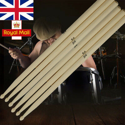 1-10 Pairs Drum Sticks 5A Drumsticks Maple High Quality Wood Feel Johnny Brook