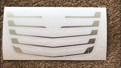 1:14 Tamiya Truck Actros Louvre Grille Transfer Chrome
