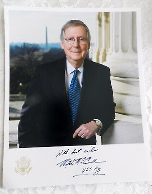 Senator Mitch McConnell autopen signed 8x10 Photo USS KENTUCKY