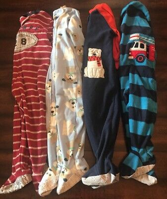 Carter's Baby Boy Footed Sleepers, Lot Of 4, Size 18 Months
