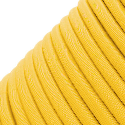 Yellow Round Elastic Bungee Rope Shock Cord Tie Down Trailers Roof Rack Boats B