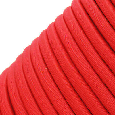 Red Round Elastic Bungee Rope Shock Cord Tie Down Trailers Roof Rack Boats B