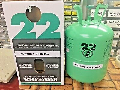 R22, Refrigerant Disposable Cylinder, 5 lb, Virgin R-22, Free Shipping, Same Day
