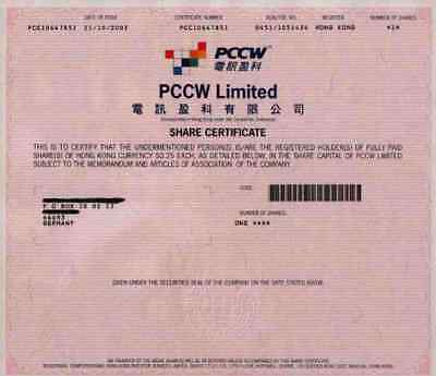 PCCW Pacific Century Cyber Works 2003 Hongkong China United Kingdom 1 Share