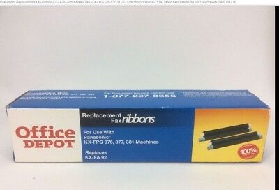 Office Depot Replacement Fax Ribbon KX-FA 92 Fits PANASONIC KX-FPG 376 377 381