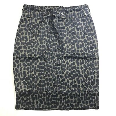 7878827fff NEW Banana Republic Size 4 Pencil Skirt Olive Green & Black Animal Print  Belted