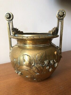 Antique Victorian bronze urn 19th Century Aesthetic Japanese- English