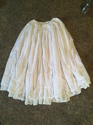 Vintage Victorian Style Hand-made Cotton Full Length Petticoat