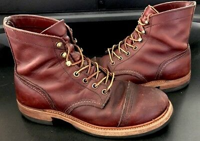 4c984495851 RED WING HERITAGE 8119 Iron Ranger Oxblood Mesa Leather Boot Size 7.5