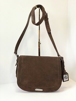 LAUREN Ralph Lauren Glennmore Larisa Messenger Medium Saddle Bag Brown 69251714b0279