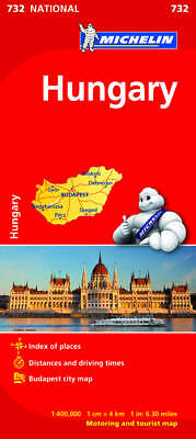 Hungary Map - Michelin 732 - New - Current Edition