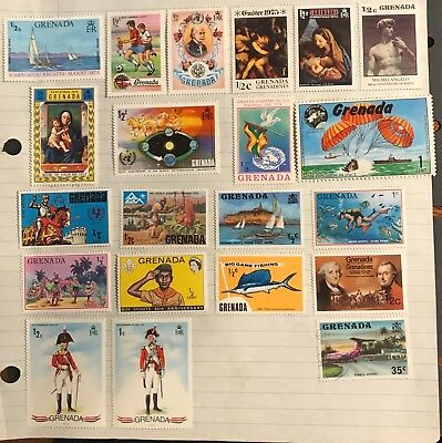Grenada postage stamps lot of 21 old