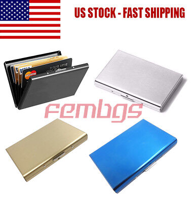 Stainless Steel RFID Blocking Credit Card ID Holder Slim Money Travel Wallet Men