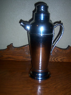 ESTATE HTF NEAT  VINTAGE MUSICAL WINE? Other?  Silver Plated/HAMMERED  DECANTER