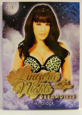 Miki Black Gold Foil Lingerie Nights Dreamgirls 2/5 Bench Warmer 2017 Rare