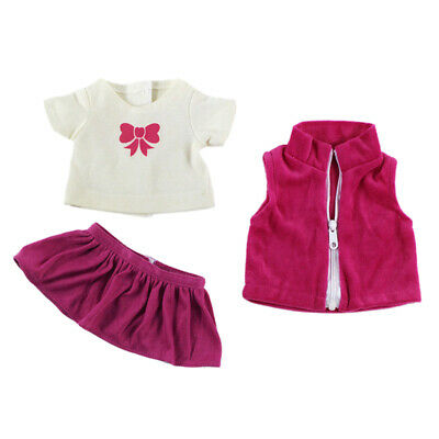Fashion Casual 3pcs Outfits Clothes Set for 18'' AG American Doll My Life Doll