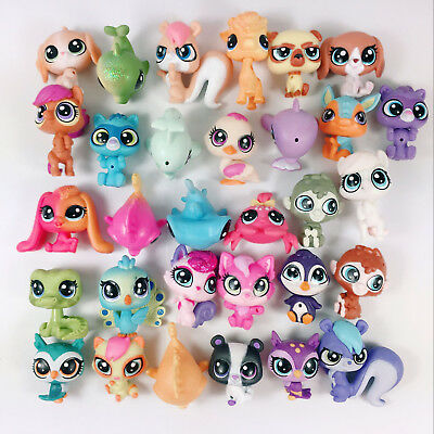 20pcs Random Littlest Pet Shop LPS Mini Cat Dog Squirrel Pony Owl Fish Animials