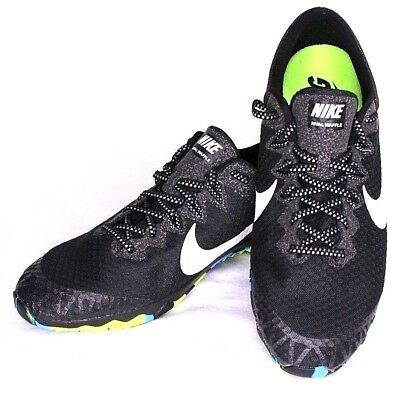 the latest 07114 d3105 Nike Zoom Rival Waffle Spikeless Track Shoe Size 11 Black Blue Green 749350 -004