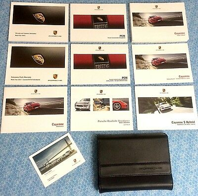 2013 Porsche Cayenne S Hybrid Owners Manual w PCM Navigation Guide OEM Books A+