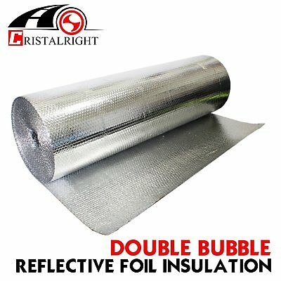 """39""""W Bubble Double Foil Heat Insulation Home Roof Wall Reflective Thermal Proof"""