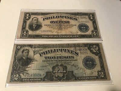 Series 66 Philippine Victory Note Set $1 & $2 F To Vf