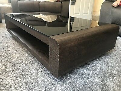 Dfs Black Tempered Glass Coffee Table Very Good Condition Rrp 450