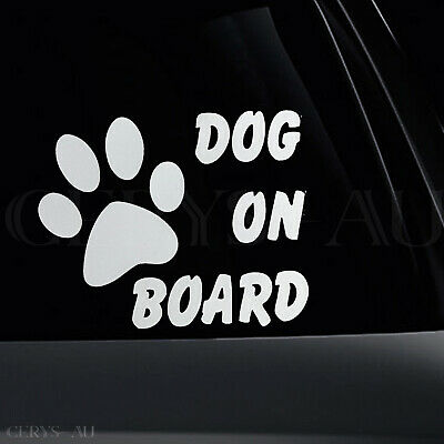 Dog On Board Stickers Reflective Car Vinyl Decal Sign Sticker Pupp Sign