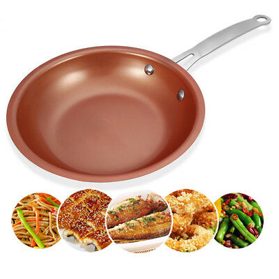 Non-stick Copper Steel Round Frying Pan Ceramic Coating Induction Cooking Pot