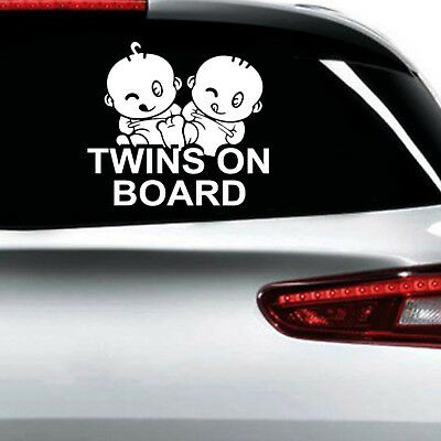 Baby Twin On Board Stickers Reflective Car Vinyl Decal Sign Sticker Sign Child