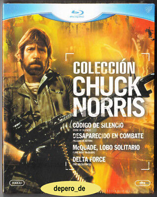 """CHUCK NORRIS COLLECTION"" - 4 Action Cult Classics - Blu Ray - Slipcover Edition"