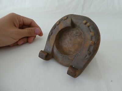 Antique Wooden Horse's Hoof Pocket Watch Stand Equestrian
