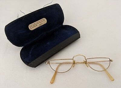 Algha Classic Vintage Glasses Half Moon Case Small 12ct Gold Filled Spectacles
