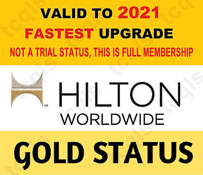Hilton Gold Status Upgrade No Password Required until Mar 2021