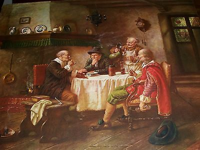 Fritz Wagner Rare Mid-Century Vintage Print 19Th Century 20 X 16 - Perfect Cond!