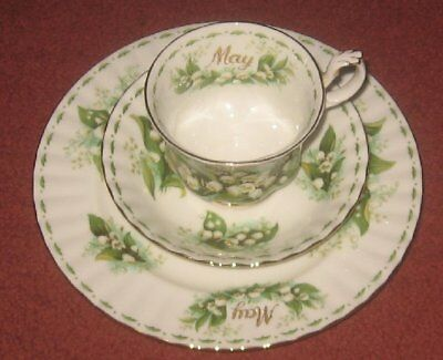 Royal Albert May Flower of the Month Trio