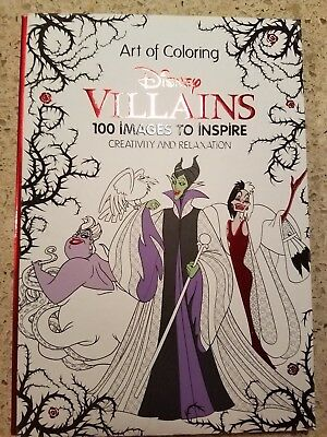 Disney Villians Coloring Book NEW