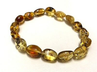 Natural genuine Baltic Amber ladies bracelet  Bernstein ambra hupo 琥珀 6 gr.#595