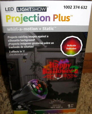 Gemmy WhirlAMotion Color Bats +Static Happy Halloween Spot Light Projection Show