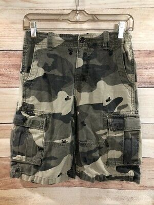 e3b31ae3c7 GAP BOYS CAMOUFLAGE Cargo Shorts Size 14 Regular With Skulls LBB76 ...