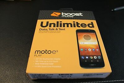 BRAND NEW BOOST Mobile Motorola Moto E5 Play 4G LTE 5 2