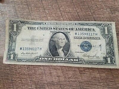 1935G Blue Seal $1 One Dollar Silver Certificate Bill