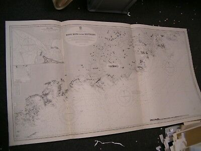Vintage Admiralty Chart 1962 HONG KONG to THE BROTHERS 1912 edn