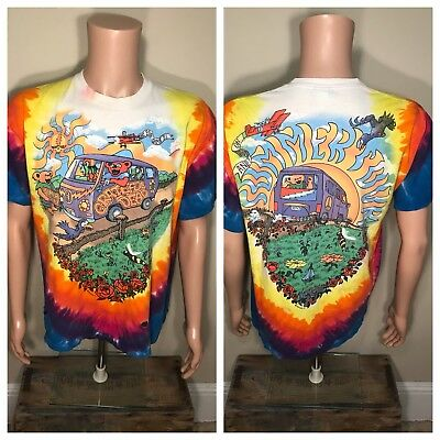 VTG Grateful Dead Summer Tour 1994 T-Shirt Jerry Garcia All Over Print Tie Dye