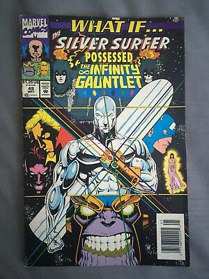 Marvel Comics : WHAT IF? # 49 The Silver Surfer Possessed The Infinity Gauntlet