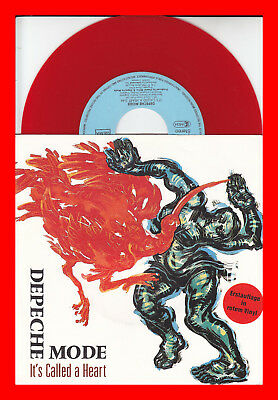 DEPECHE MODE -It's called a heart - 7'' Single - Rotes Vinyl