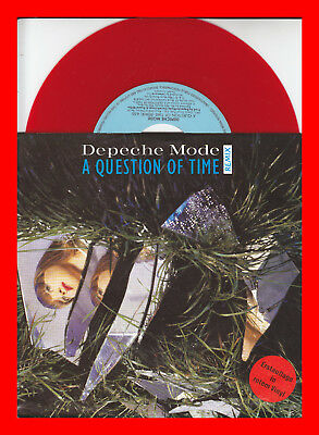 DEPECHE MODE - A question of time - 7'' Single - Rotes Vinyl
