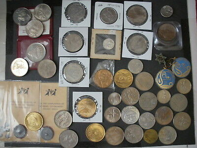 Israel Mixed Medals/Tokens/Coins Lot of 99